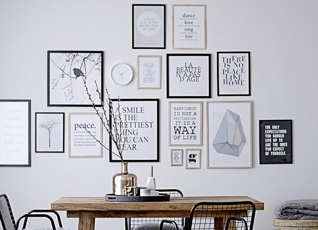 Diferentes composiciones para decorar con cuadros