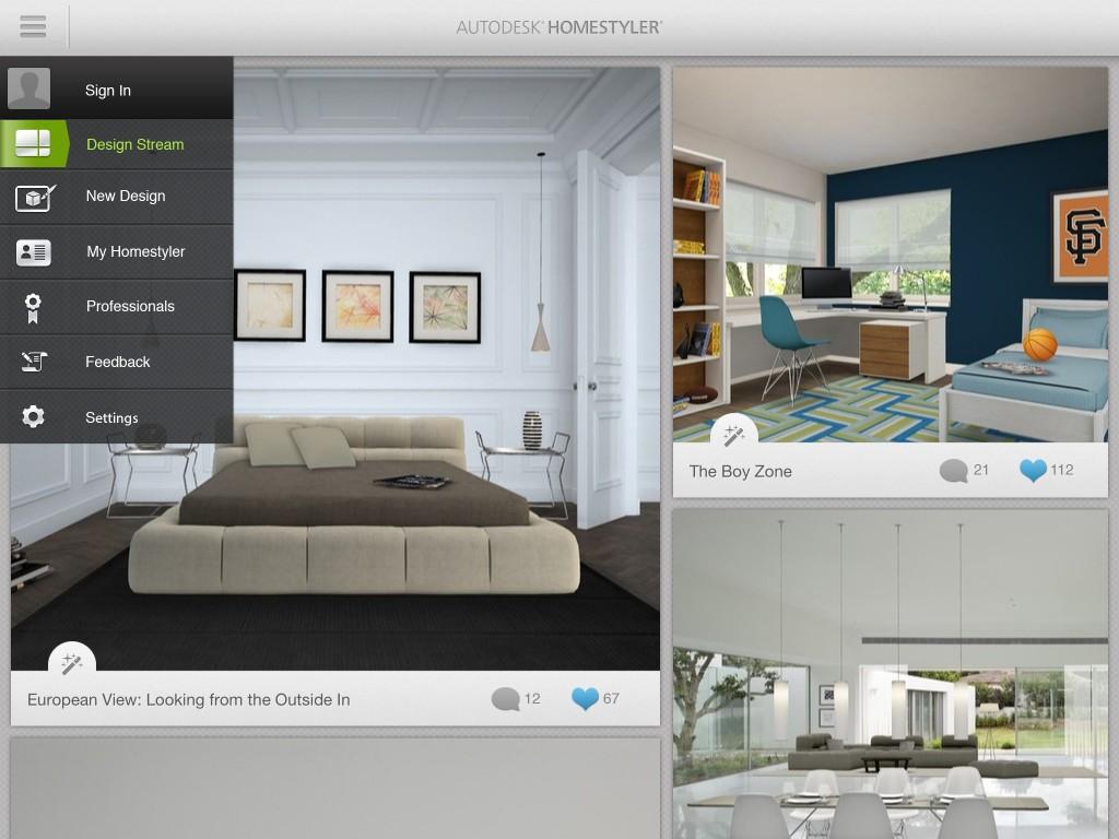 Aplicaciones de diseño de interiores para smartphones y tablets