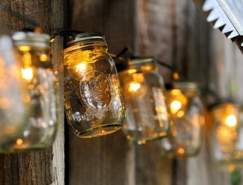 lámparas tarros cristal