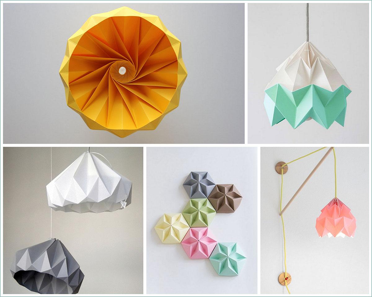 tutorial lampara origami