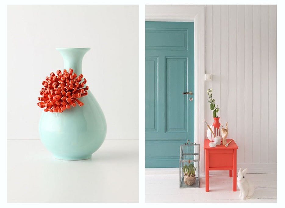 mint y coral
