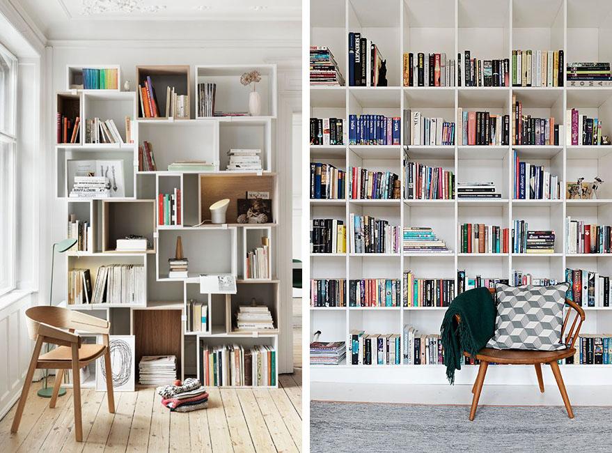 debajo de una ventana o las distintas alturas que nos ofrece una habitacin podemos colocar una estantera y tener espacio extra