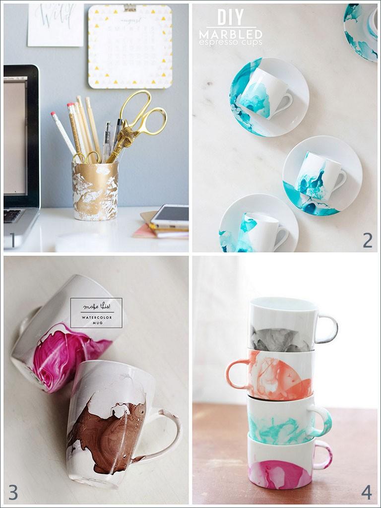 tazas de porcelana esmaltadas