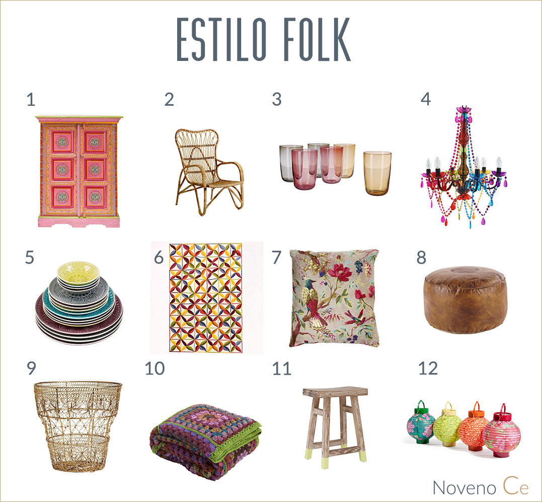 estilo folk en decoración