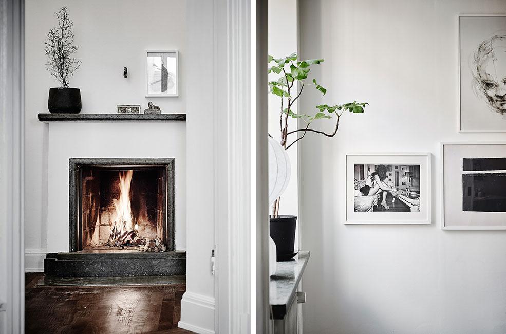vivienda en blanco y negro