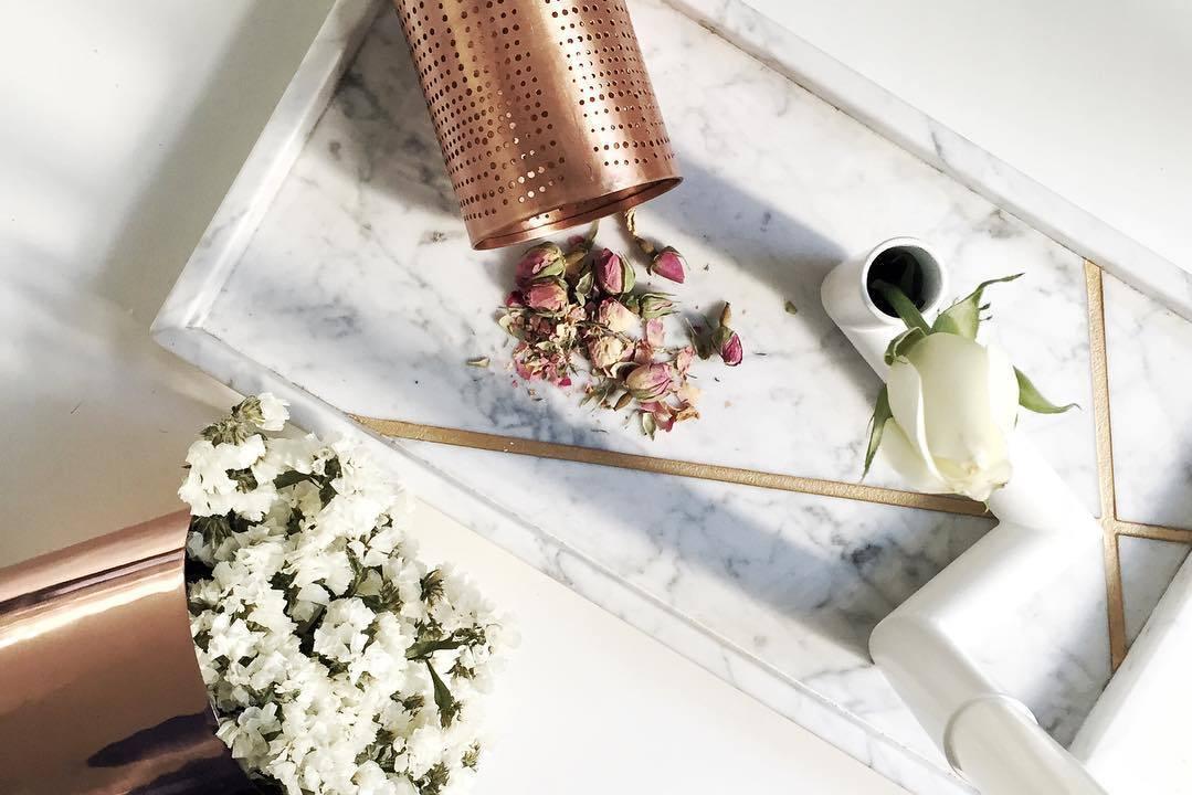 mármol y cobre