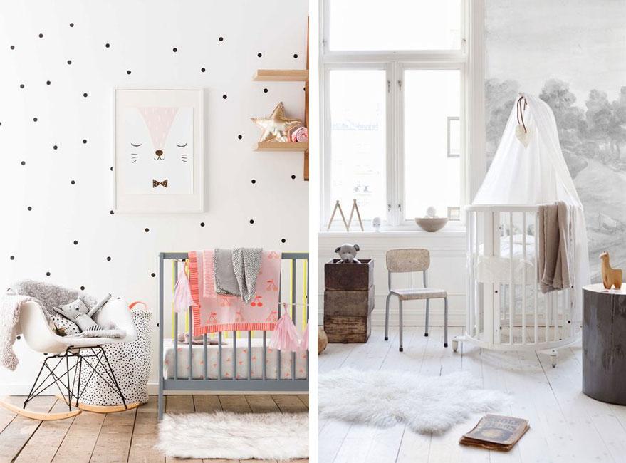 una lmpara de pie de mesa o un aplique de pared os dar una luz tenue cuando tengis que atender al beb por la noche