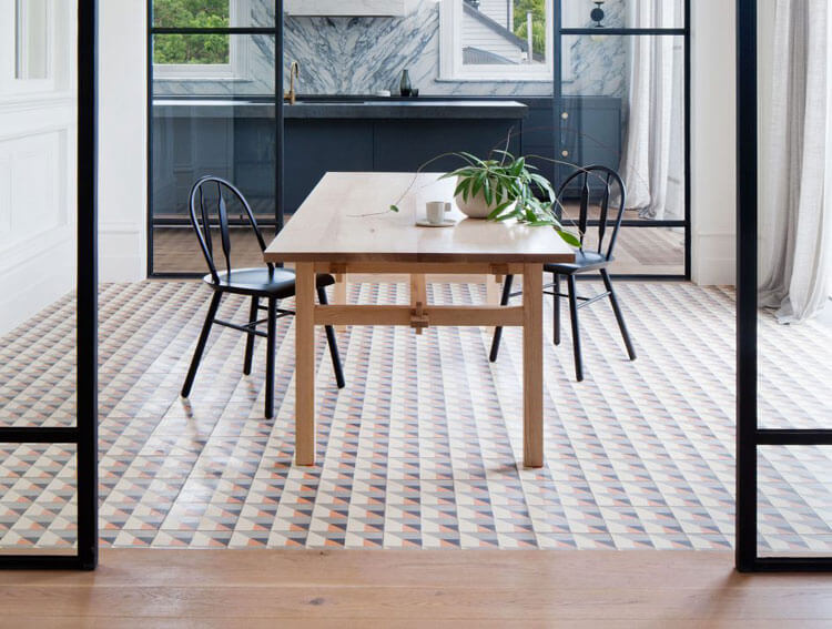 Combinar suelos de madera con cerámica, éxito asegurado. - Noveno Ce