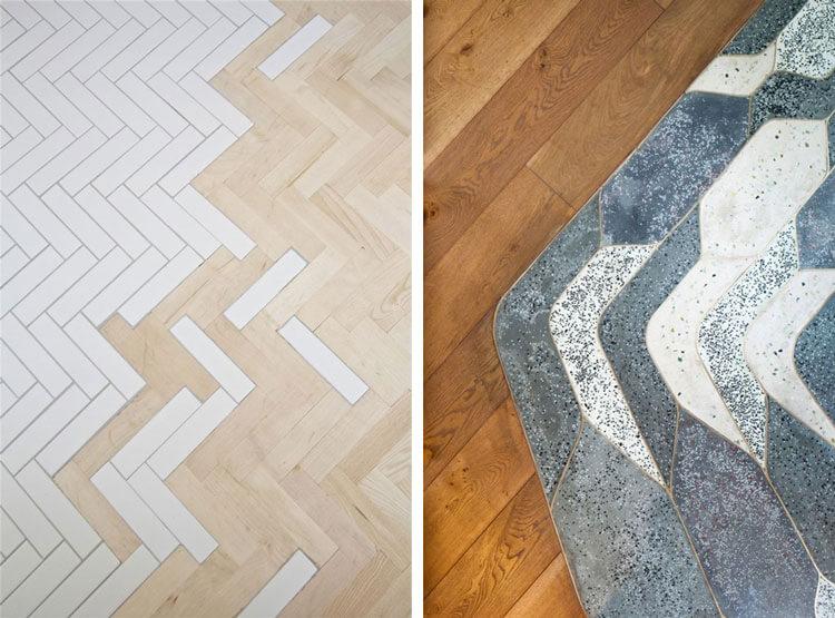 suelos de madera con cerámica