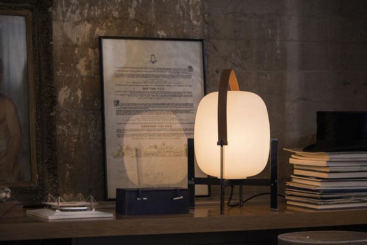 lámpara cesta