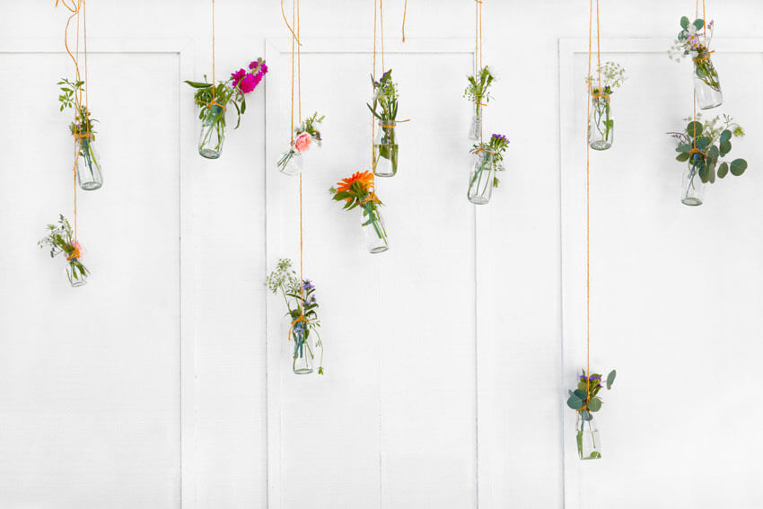 Ideas muy originales para decorar las paredes con flores
