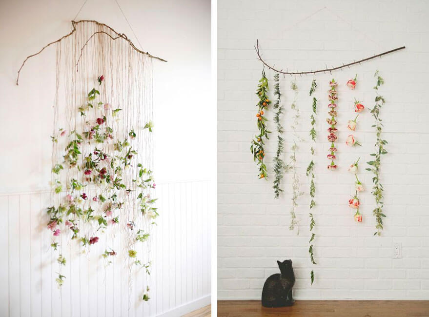 paredes con flores