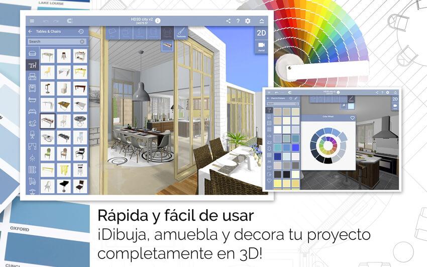 aplicaciones de diseño de interiores