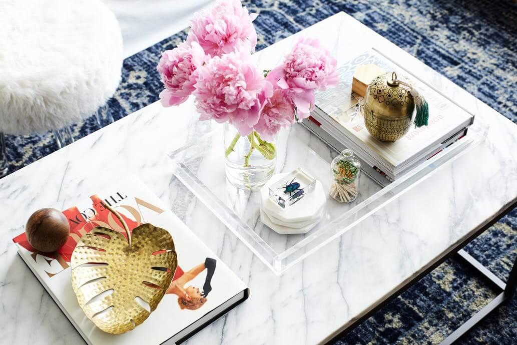 decorar la mesa de centro