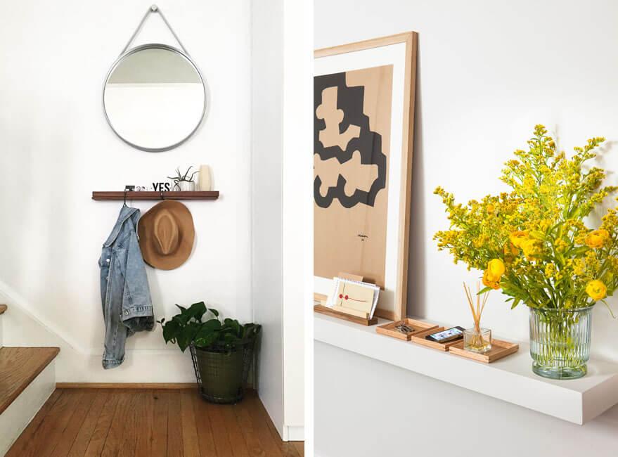 decorar un recibidor pequeño