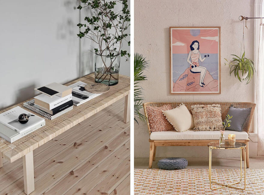 muebles de mimbre y ratán
