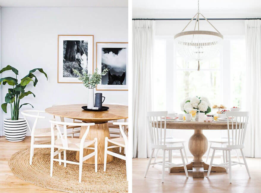 3 tipos de mesas redondas perfectas para el comedor - Noveno Ce