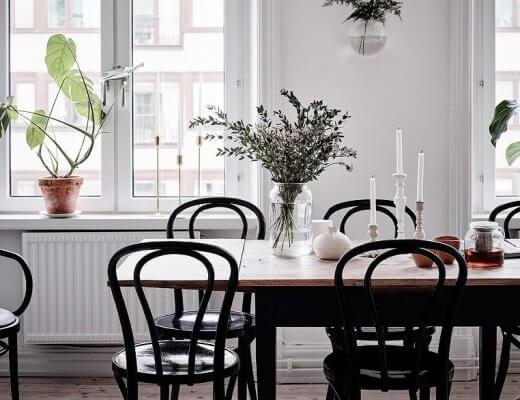 decorar la mesa de comedor