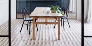 suelos de cerámica y madera